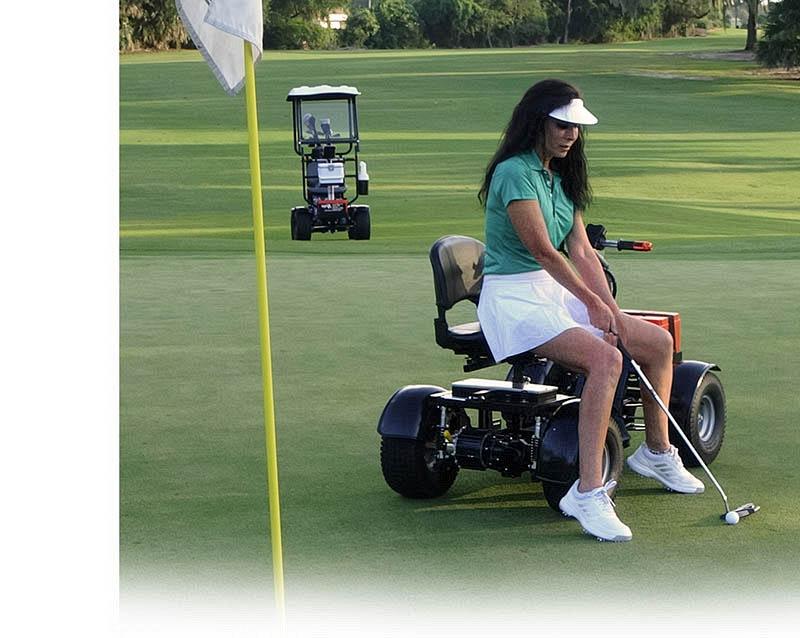 girl on cart